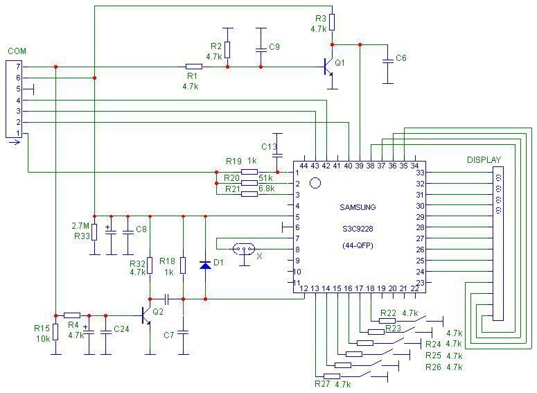 Электрическая принципиальная схема хлебопечки; плата микроконтроллера (управления)